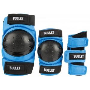 Комплект захисту Bullet Triple Padset Standard Combo Junior Blue