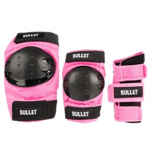 Комплект захисту Bullet Triple Padset Standard Combo Junior Pink