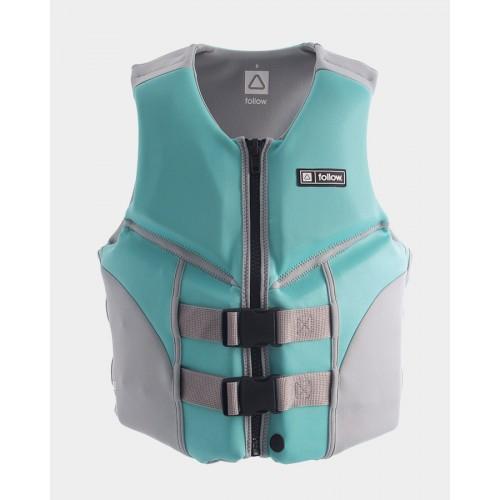 Жилет для вейкборду Follow - 2021   Cure Ladies 50N Life Vest - Teal