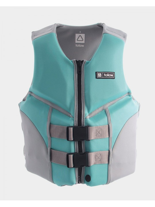 Жилет для вейкборду Follow - 2021 | Cure Ladies 50N Life Vest - Teal