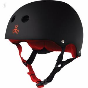 Шолом Triple8 Sweatsaver Helmet Black w/ Red