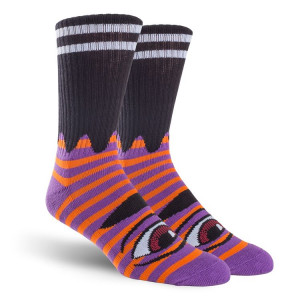 Шкарпетки Toy Machine Sect Eye Stripe Purple Red