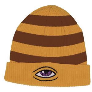 Шапка Toy Machine Sect Eye Stripe Mustard Brown