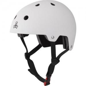 Шлем Triple8 лето Brainsaver Glossy White