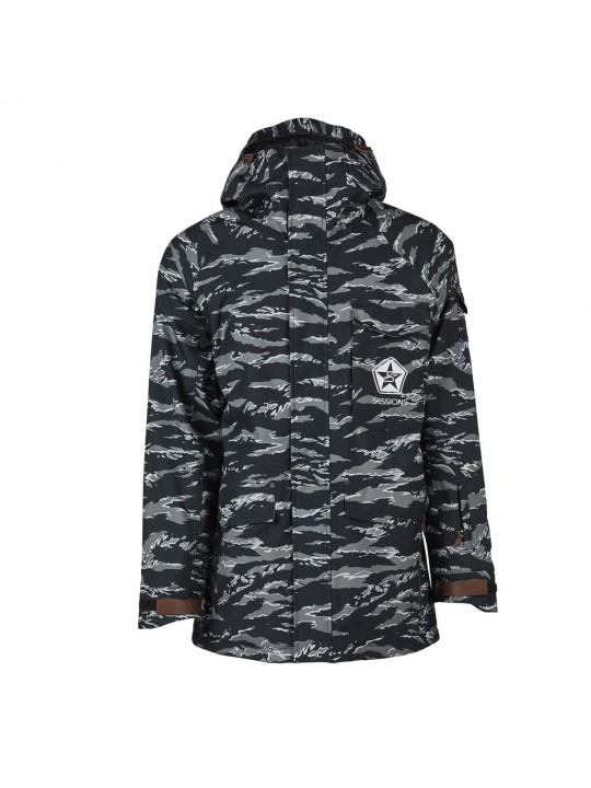 Куртки Sessions Suply Jacket Black Tiger