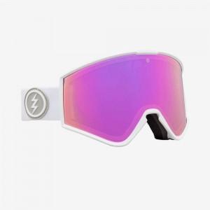 Маска Electric  Kleveland Matte White Brose\Pink Chrome + Bonus JetBlack Lens