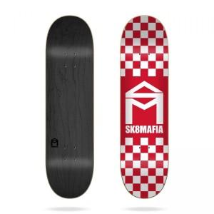 Скейтборд дека Sk8mafia House Logo Checker Red 8,25