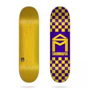 Скейтборд дека Sk8mafia House Logo Checker Purple 8,1