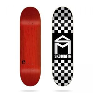 Скейтборд дека Sk8mafia House Logo Checker Black 8